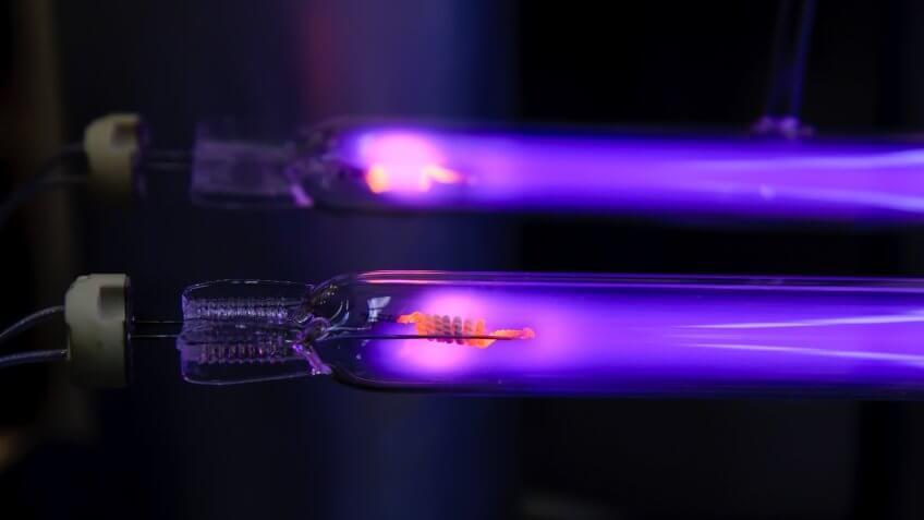 UV-lamps on test run.