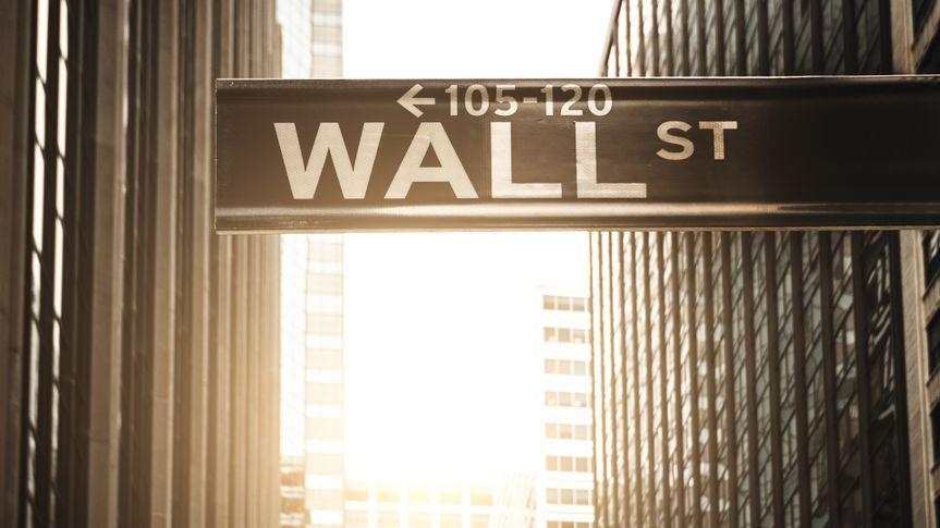 Wall Street sign in New York Manhattan