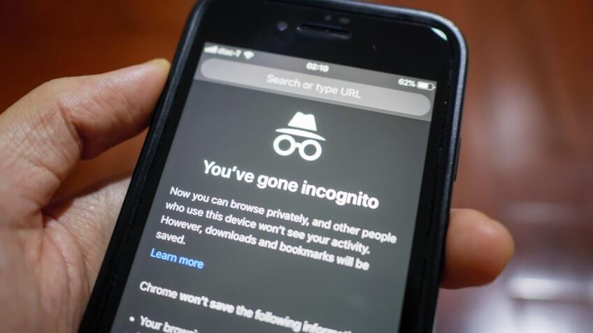 incognito mode smartphone