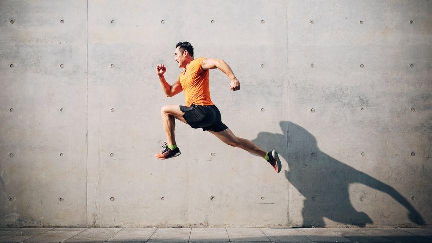 man exercising staying fit saving money