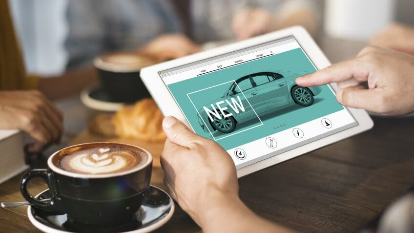 new car search tablet