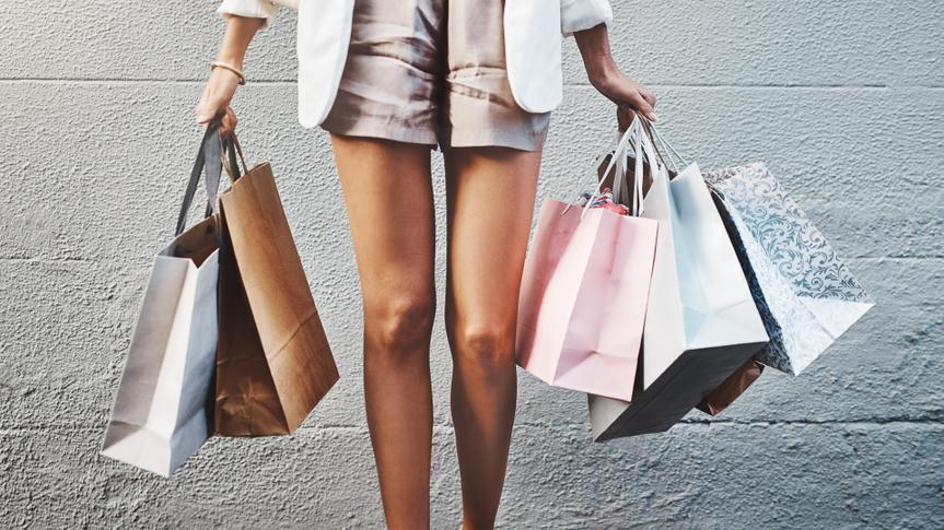 Cropped shot of an unrecognizable woman out shopping in the city.