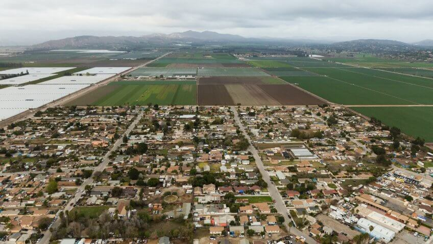 Aerial helicopter shot of Oxnard.