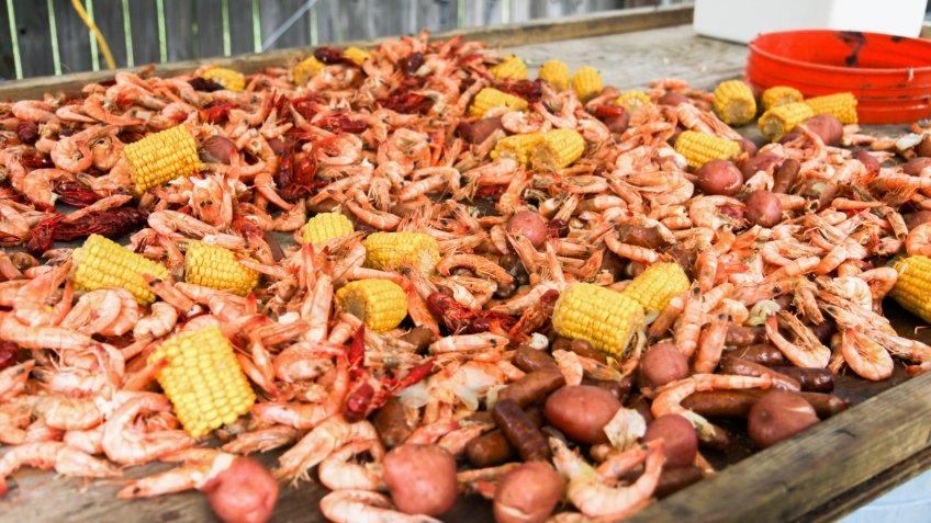 shrimp boil in Mobile Alabama.