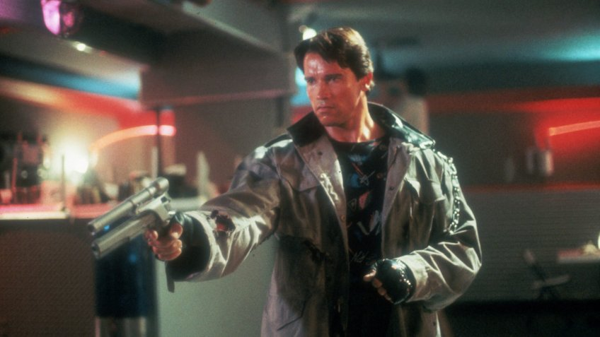 FILM STILLS OF 'TERMINATOR' WITH 1984, JAMES CAMERON, GUN CRAZY, ARNOLD SCHWARZENEGGER IN 1984VARIOUS.