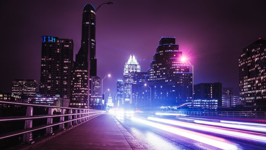 Austin night skyline.
