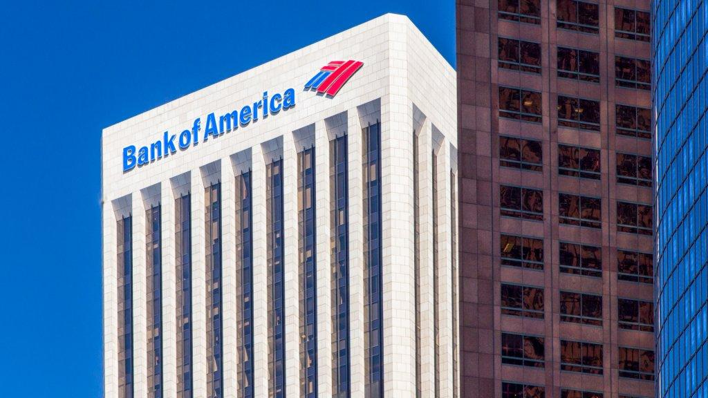 LOS ANGELES, CA/USA - AUGUST 30, 2014: Bank of America Center.
