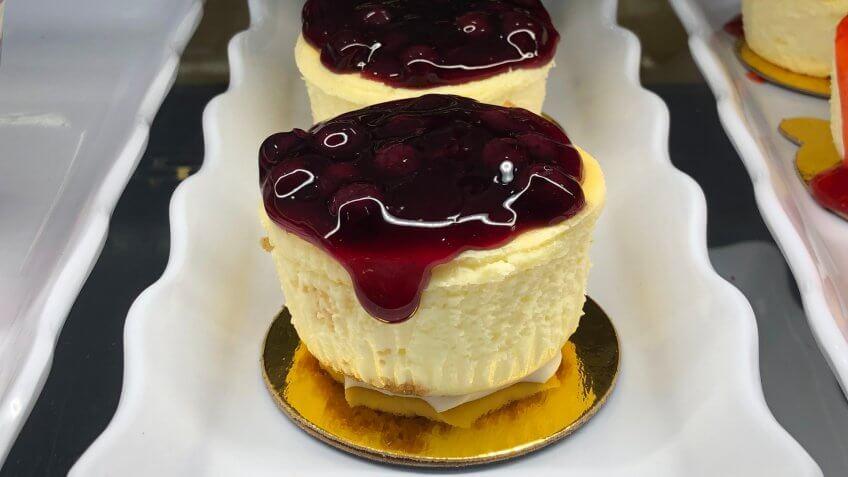 Berries cheese cake in Minneapolis Minnesota.