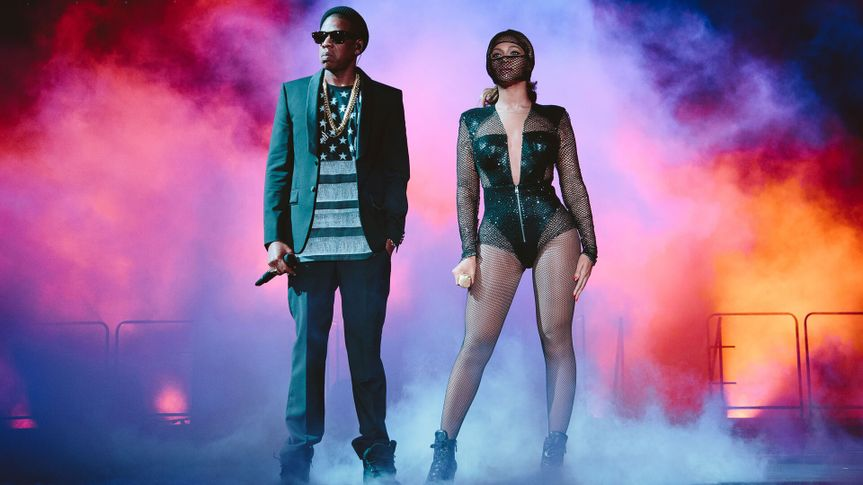 Beyonce and JAY Z perform during the On The Run tour at Rogers Centre on in TorontoBeyonce and Jay Z - On the Run Tour - , Toronto, Canada - 9 Jul 2014.