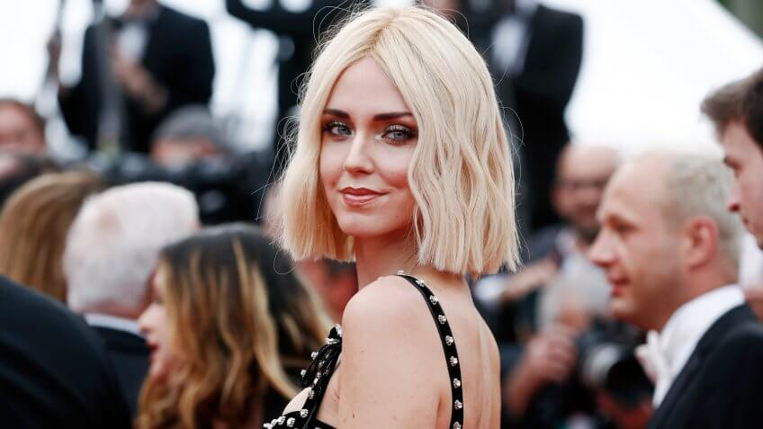 """CANNES, FRANCE - MAY 21: Chiara Ferragni attends the premiere of the movie """"Once Upon A Time In Hollywood"""" during the 72nd Cannes Film Festival on May 21, 2019 in Cannes, France."""
