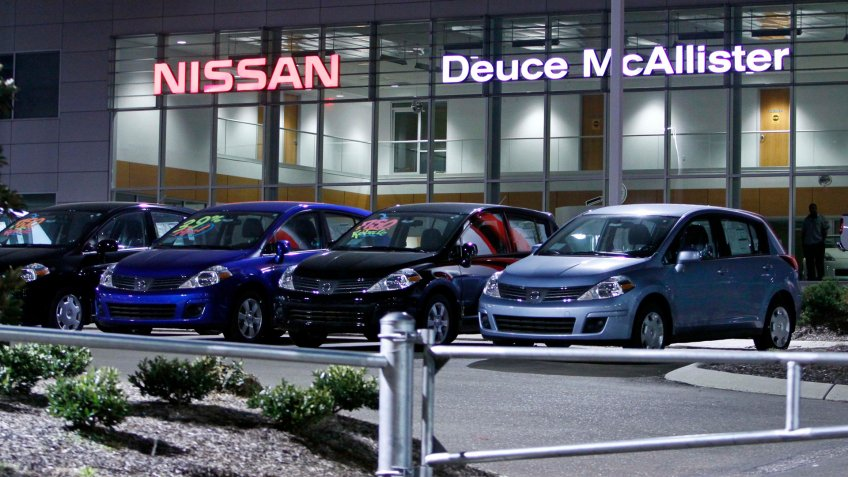 Mandatory Credit: Photo by Rogelio V Solis/AP/Shutterstock (6353545a)Showing unsold vehicles at the Nissan dealership owned by former New Orleans Saints running back Deuce McAllister, in Jackson, Miss.