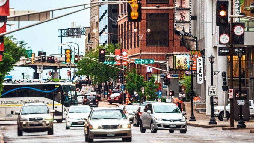 Downtown St Louis, Missouri, USA.