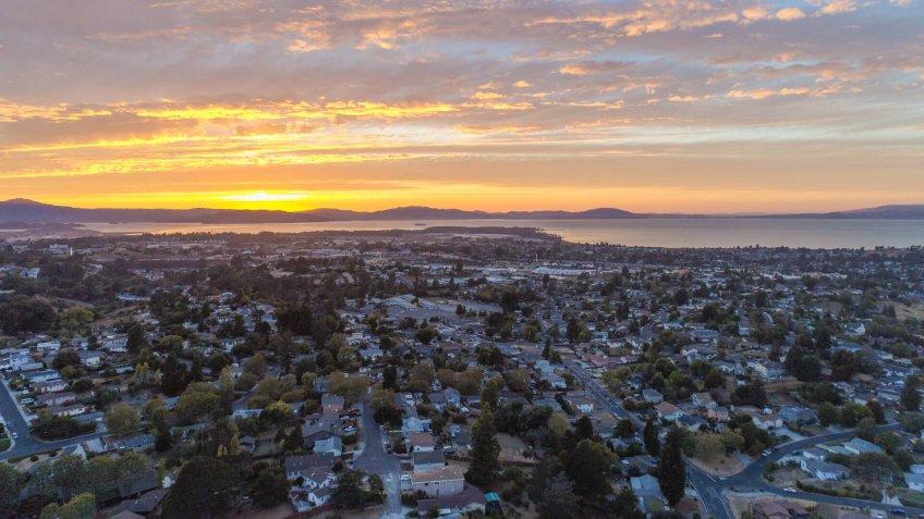 Sunset over El Sobrante.