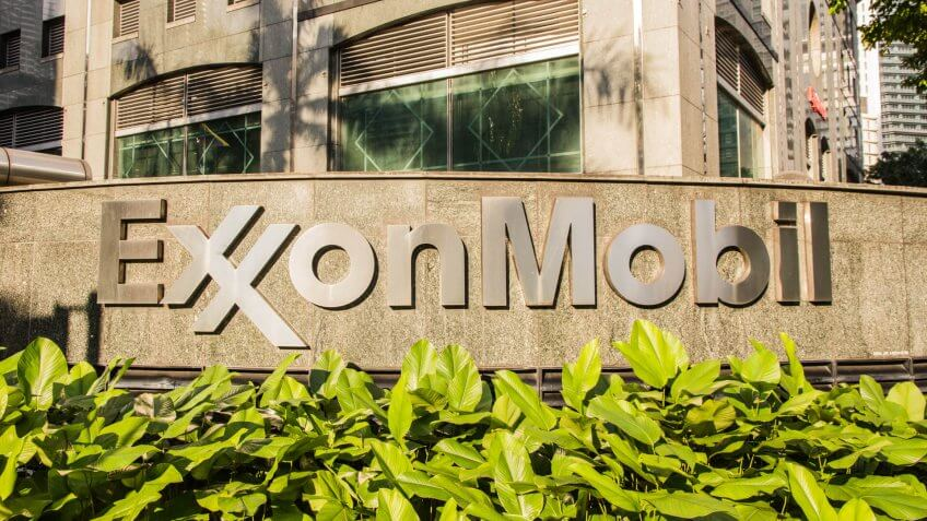 Exxon Mobil corporate sign outside of their headquarters in the Asia-Pacific, Kuala Lumpur, Malaysia, circa November, 2017.