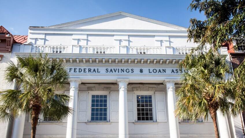 Federal savings and loan association bank building