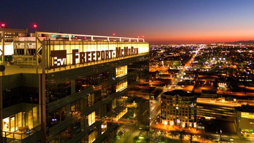 Freeport-McMoRan an international mining company headquartered in Phoenix, Arizona.