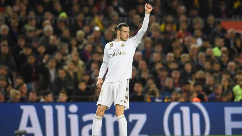 Editorial Use OnlyMandatory Credit: Photo by Bagu Blanco/BPI/Shutterstock (10507175aa)Gareth Bale of Real MadridBarcelona v Real Madrid, La Liga, Football, Camp Nou, Spain - 18 Dec 2019.