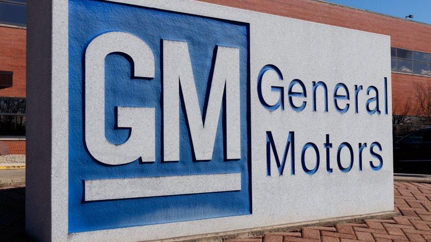 General Motors corporate sign