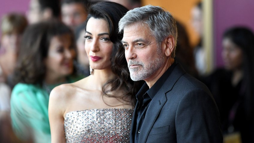 Amal Clooney and George Clooney'Catch-22' TV show premiere, London, UK - 15 May 2019.