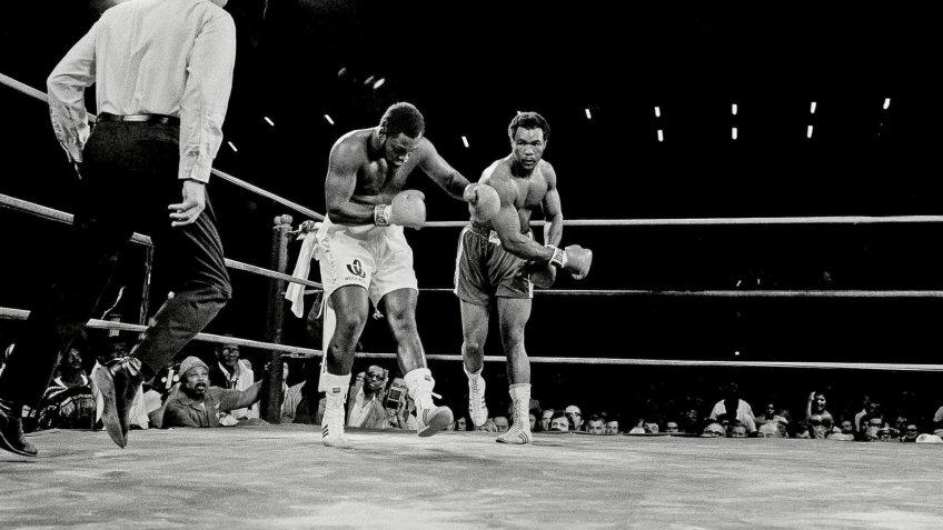 Associated Press Sports Boxing Jamaica APHS41942 FOREMAN VS.