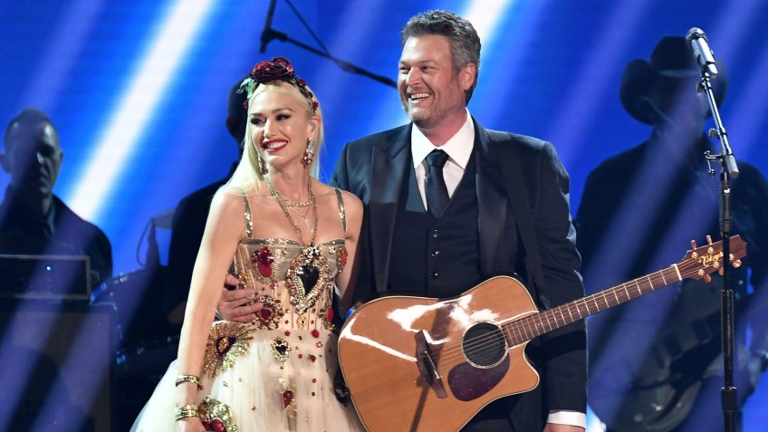 Gwen Stefani and Blake Shelton 62nd Annual Grammy Awards, Show, Los Angeles, USA - 26 Jan 2020.