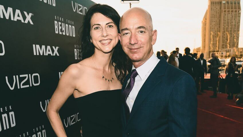 MacKenzie Bezos and Jeff Bezos'Star Trek Beyond' film premiere, Arrivals, Comic-Con International, San Diego, USA - 20 Jul 2016.