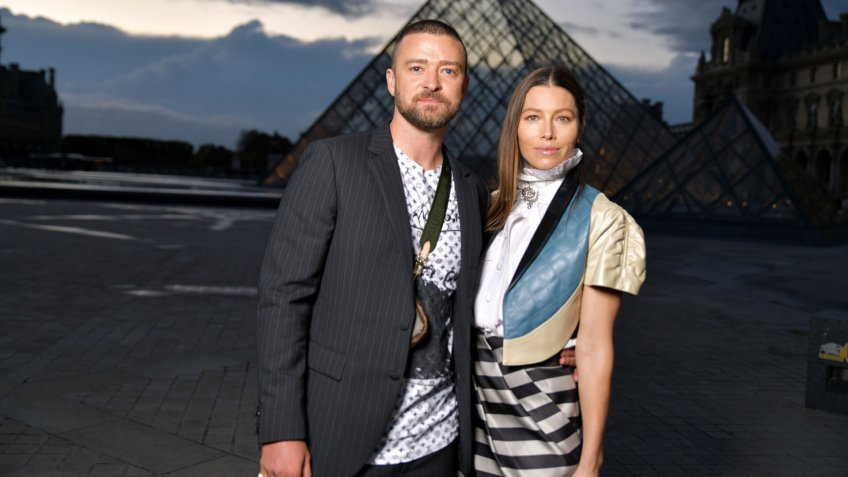 Justin Timberlake and Jessica Biel in the front rowLouis Vuitton show, Front Row, Spring Summer 2020, Paris Fashion Week, France - 01 Oct 2019.