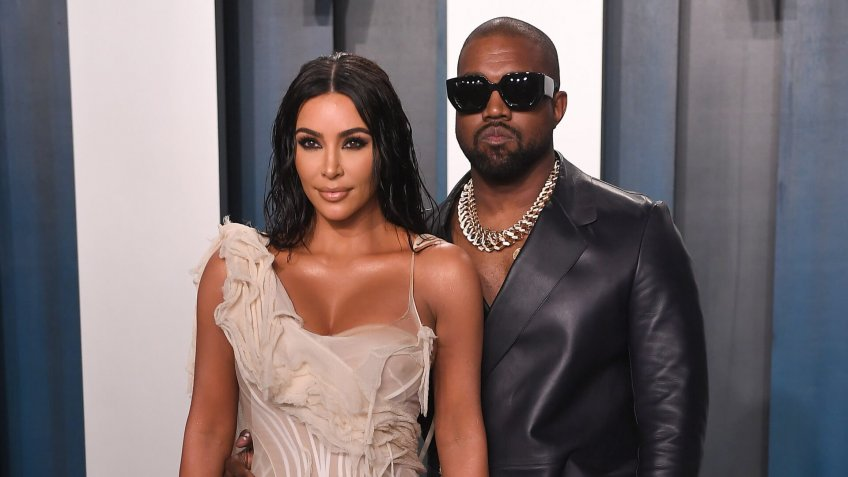 Kim Kardashian West and Kanye WestVanity Fair Oscar Party, Arrivals, Los Angeles, USA - 09 Feb 2020.