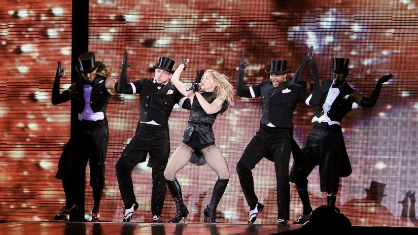 Madonna in Concert During Her 'Sticky and Sweet' Tour, Hayarkon park in Tel Aviv, Israel - 01 Sep 2009.