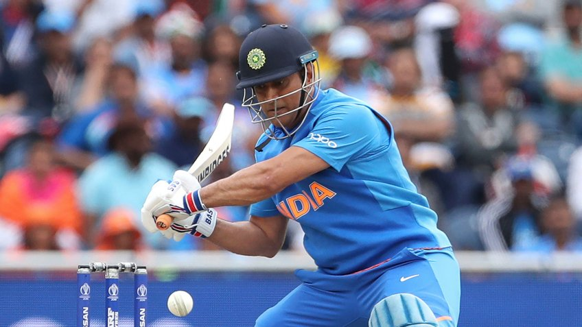 Mandatory Credit: Photo by Aijaz Rahi/AP/Shutterstock (10332422b)India's MS Dhoni bats during the Cricket World Cup semi-final match between India and New Zealand at Old Trafford in Manchester, EnglandIndia Cricket, Manchester, United Kingdom - 10 Jul 2019.
