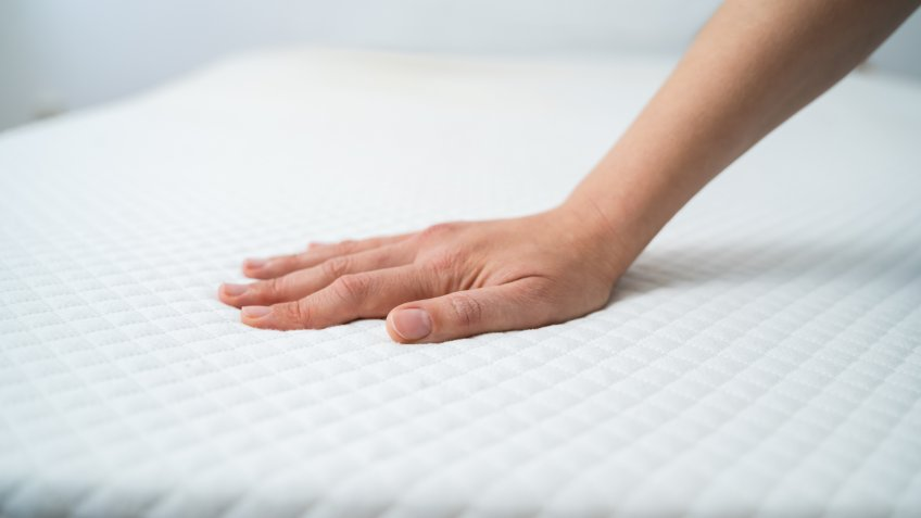 Hand Testing Orthopedic Memory Foam Core Mattress.