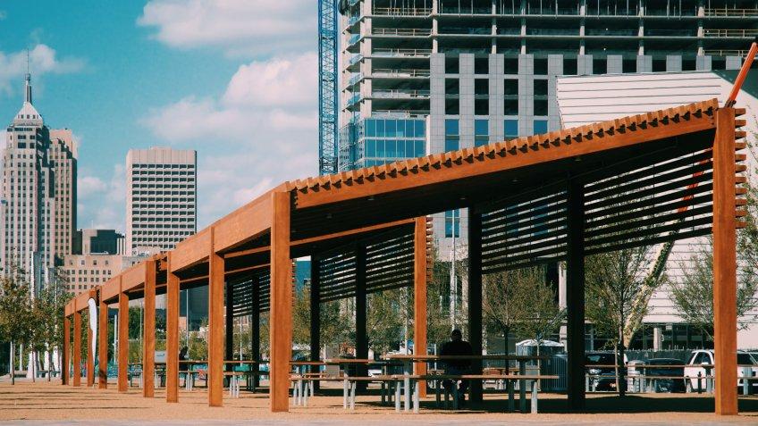 New Oklahoma City Park downtown.