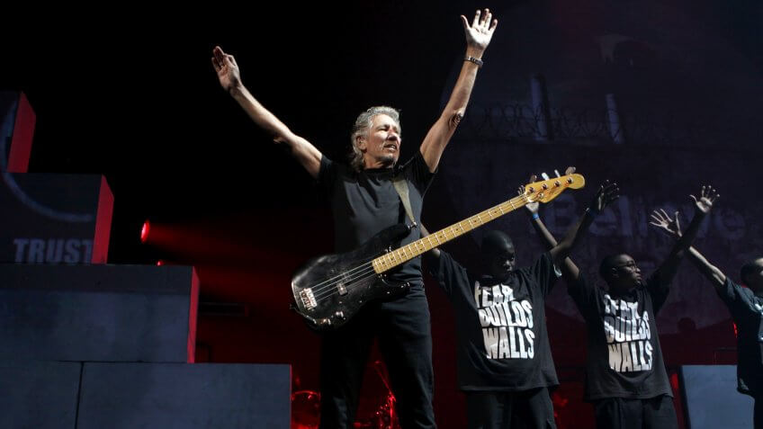 Roger Waters Roger Waters 'The Wall Live' in concert at Madison Square Garden, New York, America - 5 Oct 2010.