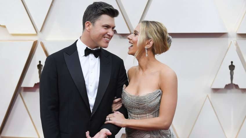 Scarlett Johansson and Colin Jost92nd Annual Academy Awards, Arrivals, Los Angeles, USA - 09 Feb 2020.