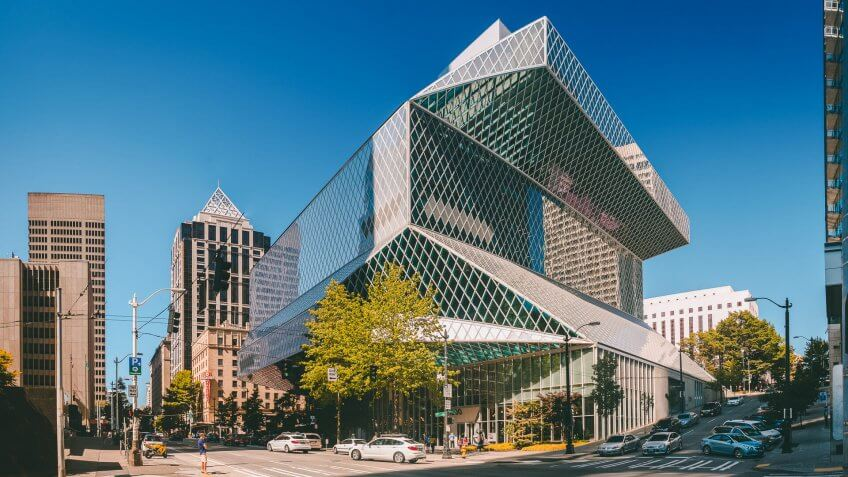 Seattle Central Public Library in Seattle Washington