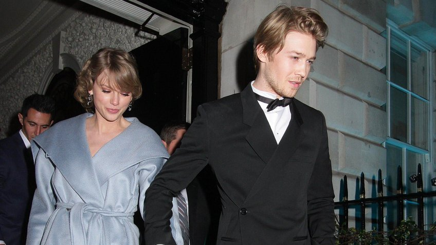 Taylor Swift and Joe Alwyn British Vogue Fashion and Film BAFTA party, Annabel's, London, UK - 10 Feb 2019.