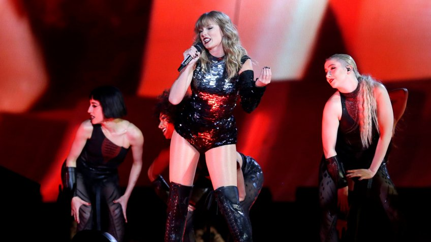 Taylor Swift performs during the Reputation Stadium Tour opener at University of Phoenix Stadium, in Glendale, ArizTaylor Swift in Concert - , AZ, Glendale, USA - 08 May 2018.