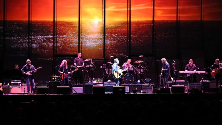 Glenn Frey of the Eagles performs at Philips Arena, in AtlantaEagles In Concert - , Atlanta, USA.
