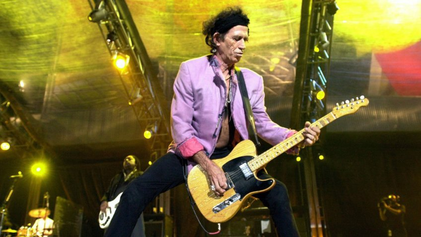 Rolling Stones Guitarist Keith Richards During Their Licks World Tour 2003 Concert First in Spain at San Mames Stadium in Bilbao Late Wednesday 16 June 2003 Epa Photo/efe/luis Tejido Spain BilbaoRolling Stones World Tour 2003 - Jun 2003.