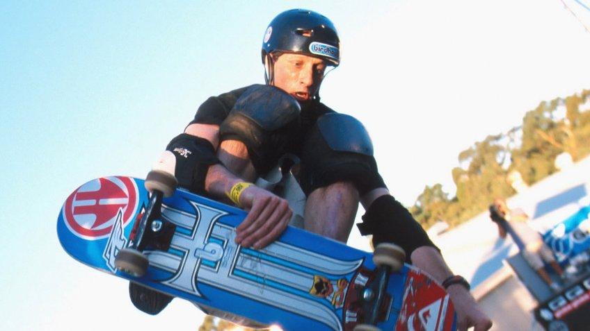 Skateboarder Tony Hawk Skateboarding.