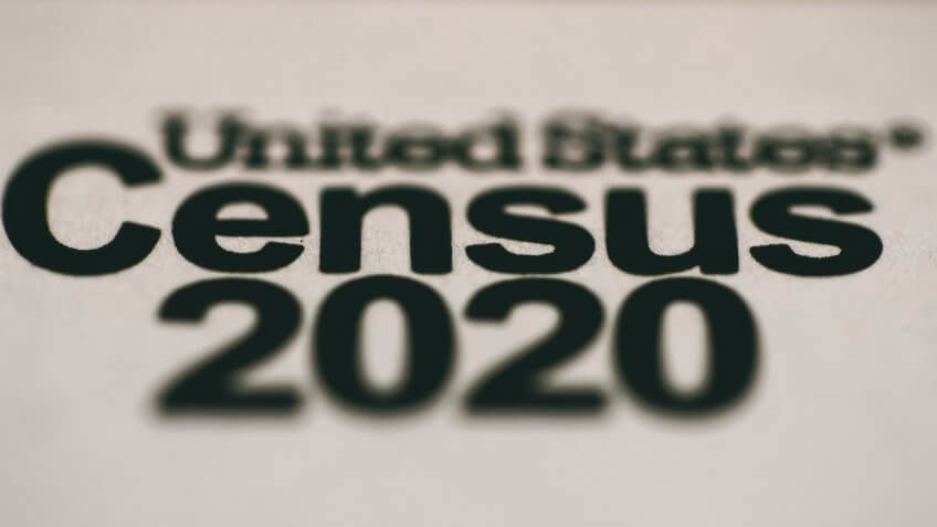 Shown is an envelope containing a 2020 census letter mailed to a U.