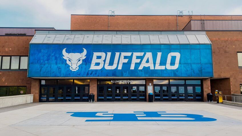 Buffalo, New York/United States - September 18, 2018: University at Buffalo Alumni Arena.