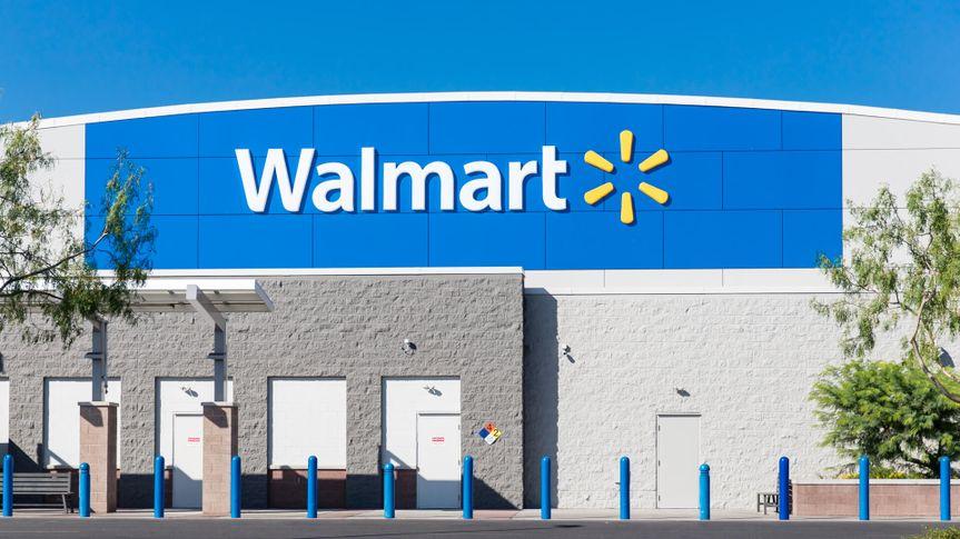 Tucson, AZ July 21, 2019: Walmart Store Building Sign.