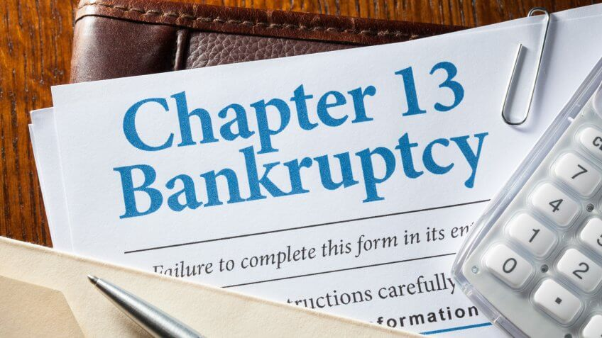 Documents for filing bankruptcy.