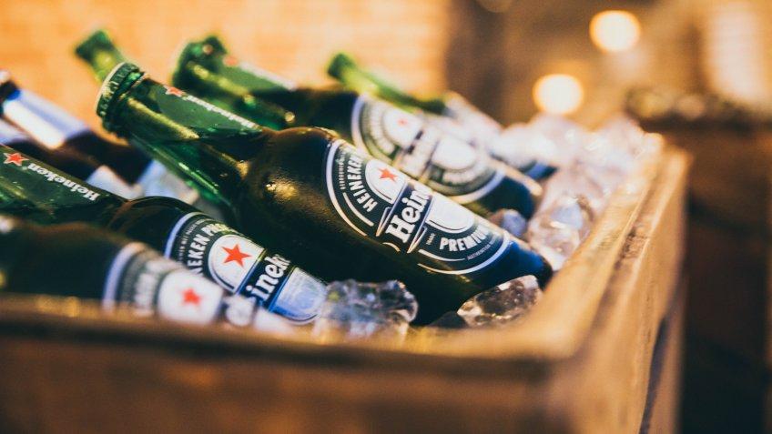heineken beer bottles.