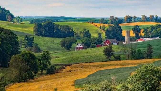 Beautiful farmland in the Ohio countryside.
