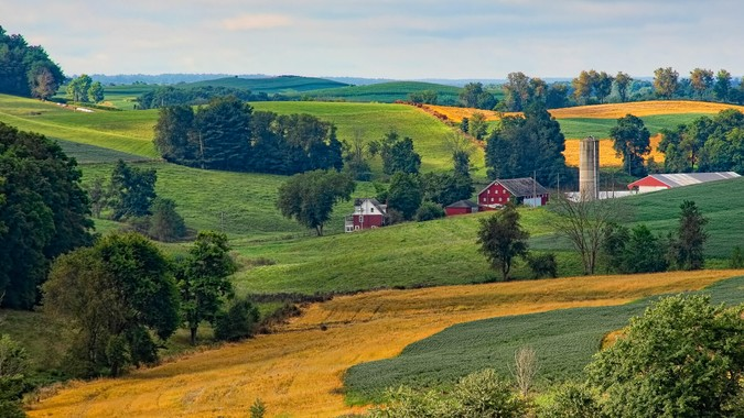 Beautiful farmland in the Ohio countryside.