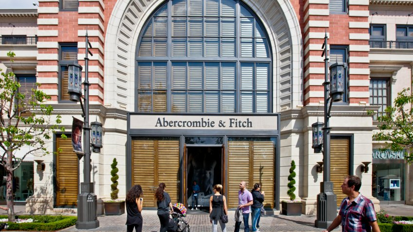 Los Angeles, USA - May 7, 2013: Abercrombie & Fitch, The Grove shopping mall, Los Angeles.