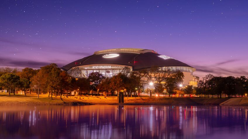 Arlington, Texas AT&T football Stadium, November 23, 2018 is home of the Dallas Cowboys AT&T Stadium located in Arlington, Texas USA,.