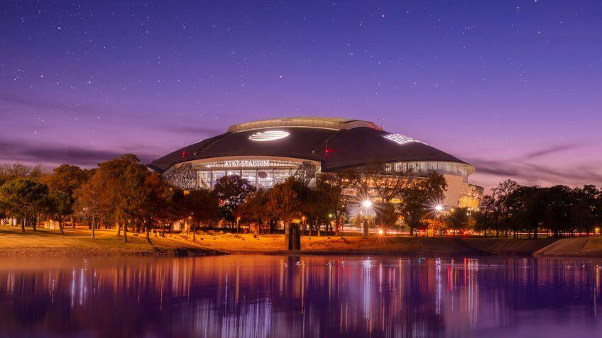 Arlington, Texas AT&T football Stadium, November 23, 2018 is home of the Dallas Cowboys AT&T Stadium located in Arlington, Texas USA,.